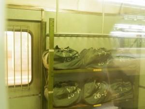 カニ24の荷物室・リネン類