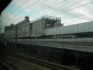 富山駅高架工事中